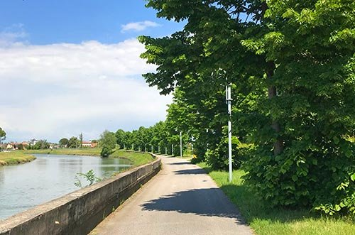 Percorso ciclabile e ciclopedonale che costeggia il fiume Lemene